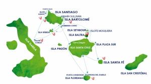 Карта маршрута сафари для натуралистов на яхте Astrea