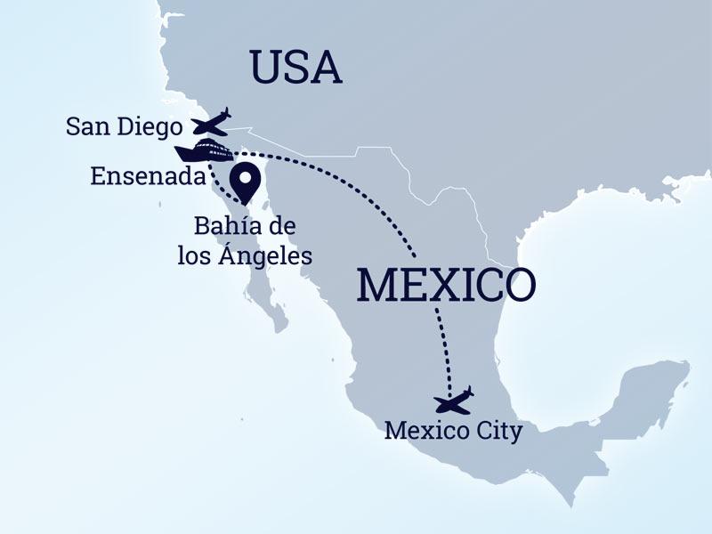 Bahia De Los Angeles Map.Dajving Safari V Meksike Marshrut Bahia De Los Angeles Guadalupe